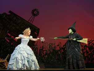 Glinda and Elphaba from Wicked
